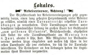 Zeitungsrtikel vom 28. Mai 1903